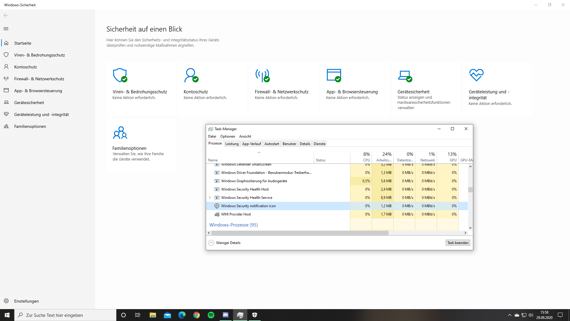 Desktop grüne haken Dateien in