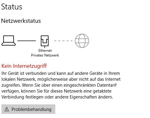 Kein Internetzugriff trotz Verbindung (0x800704cf)