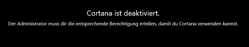 Cortana aktivieren
