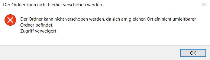 Wegen OneDrive kann ich nicht mehr auf Eigene Dateien zugreifen!!