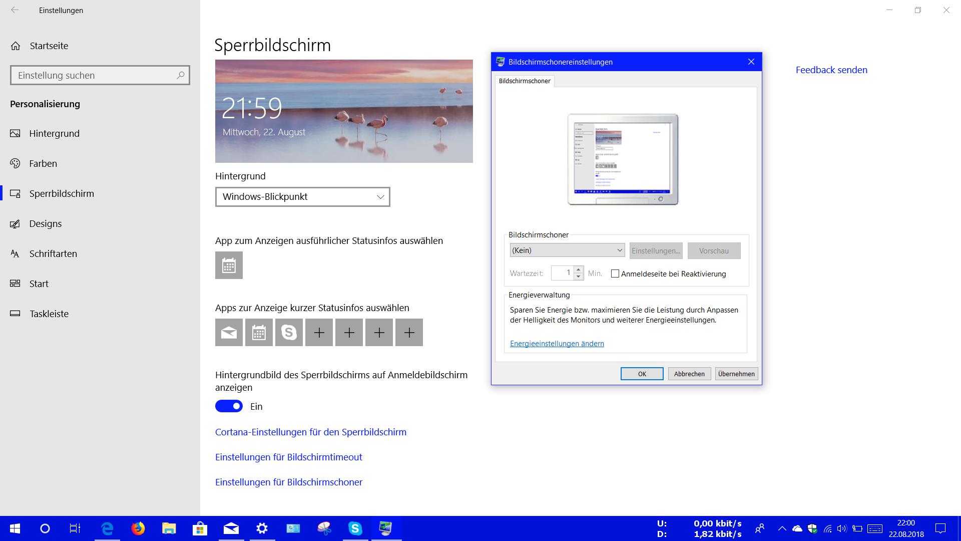 Hintergrundbilder von Windows 10