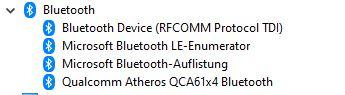 Bluetooth findet keine Geräte (Lenovo Y700-ISH34)