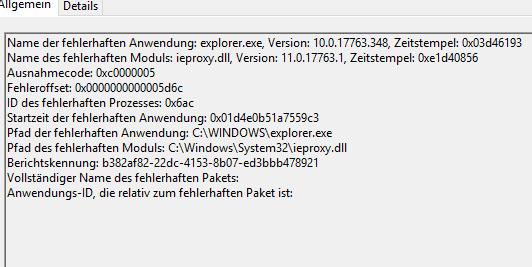 Windows 10 Explorer startet alle paar Sekunden neu