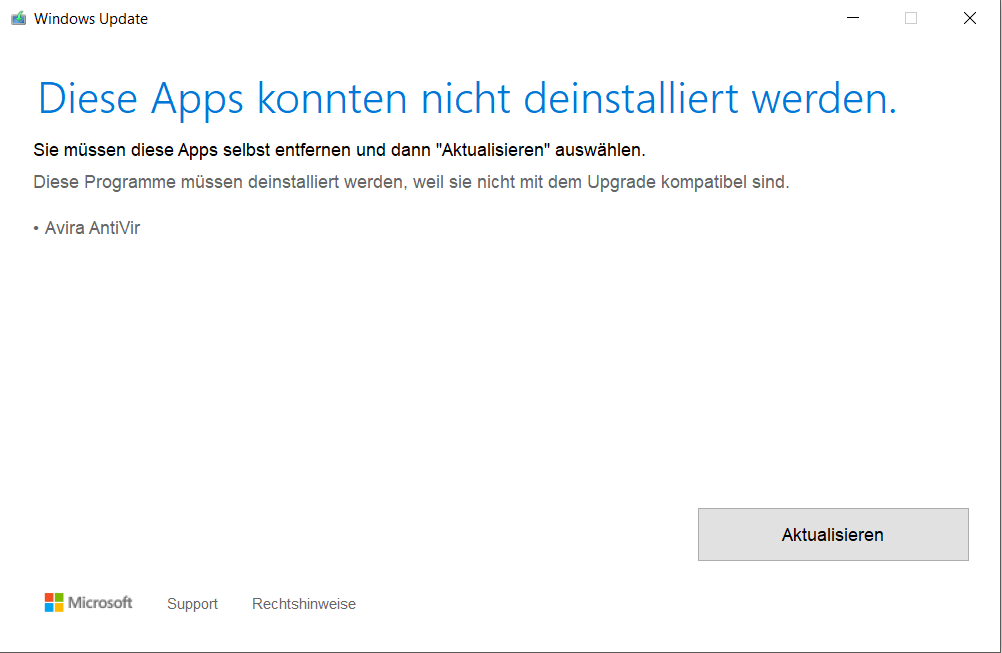 Windows Updatefehler *AVIRA*