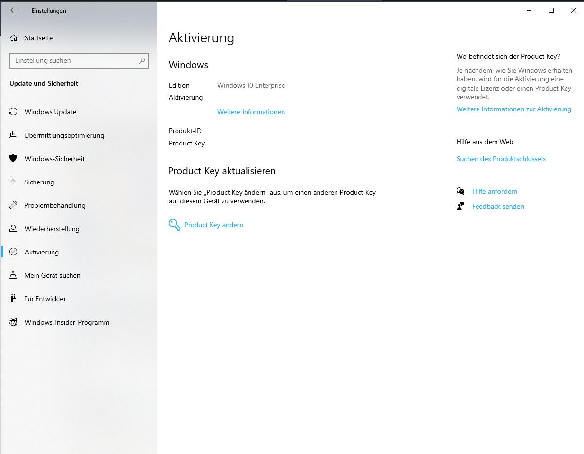 Windows 10 Pro nach Clean install plötzlich Windows 10 Enterprise