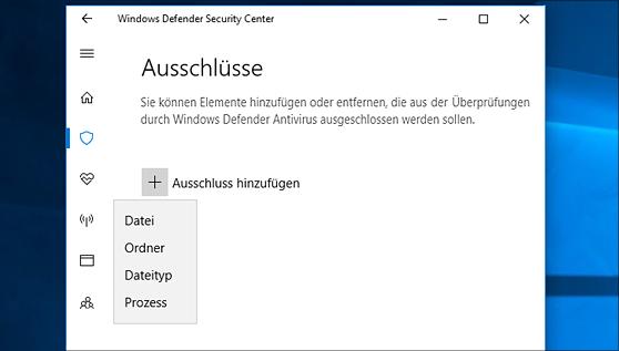 Meldung des Windows Defenders