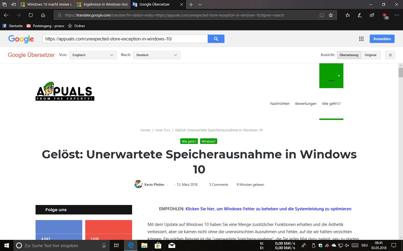 Windows 10 macht immer und immer Probleme