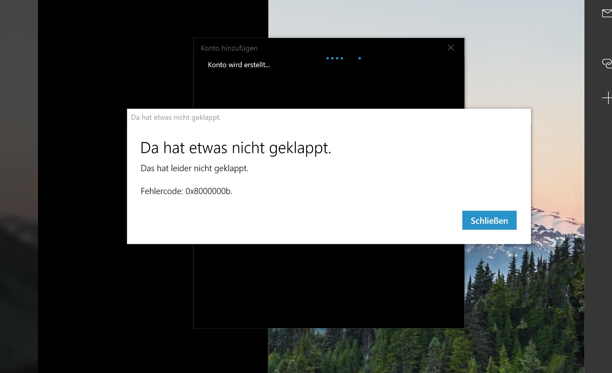 Edge Sync und Mail App unter Windows 10 Version 1809