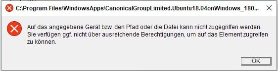 Windows Store keine Berechtigung zum Installieren von Apps