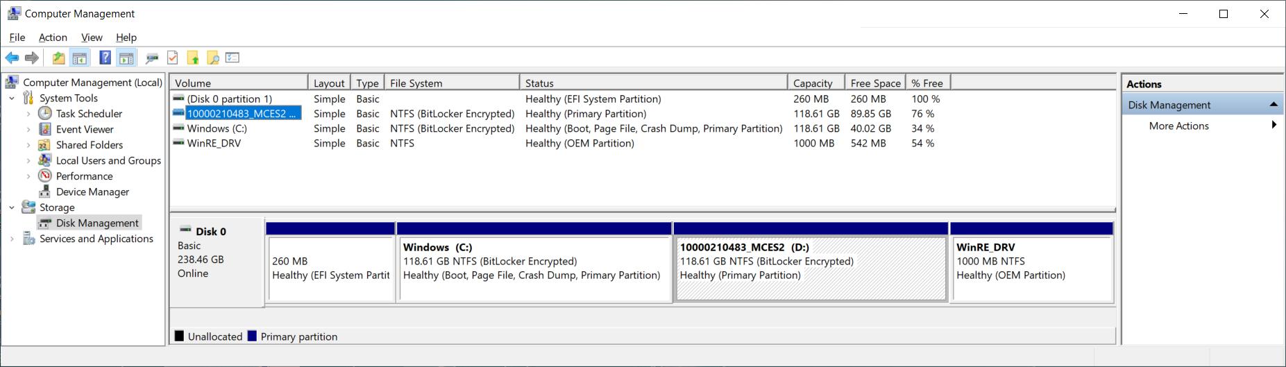 BitLocker wird nach Umpatinionierung als aktiviert angezeigt, obwohl nicht aktiert,...