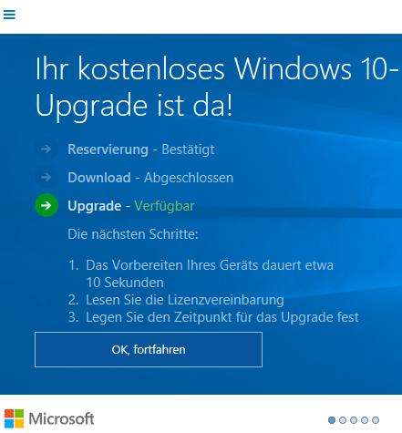 Upgrade auf Windows 10 Home fehlgeschlagen, Code 80004005