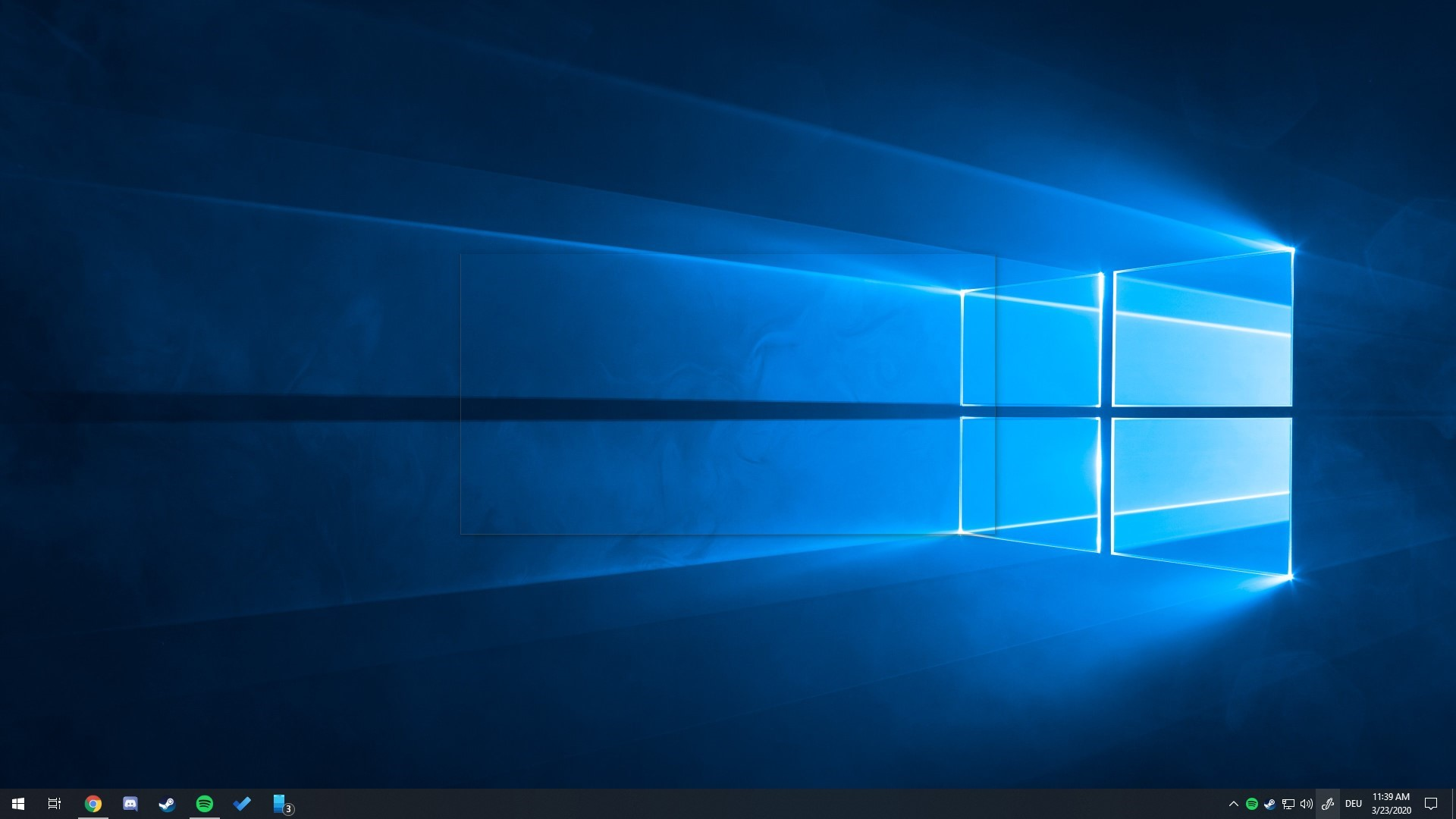 Transparentes Rechteck auf Desktop