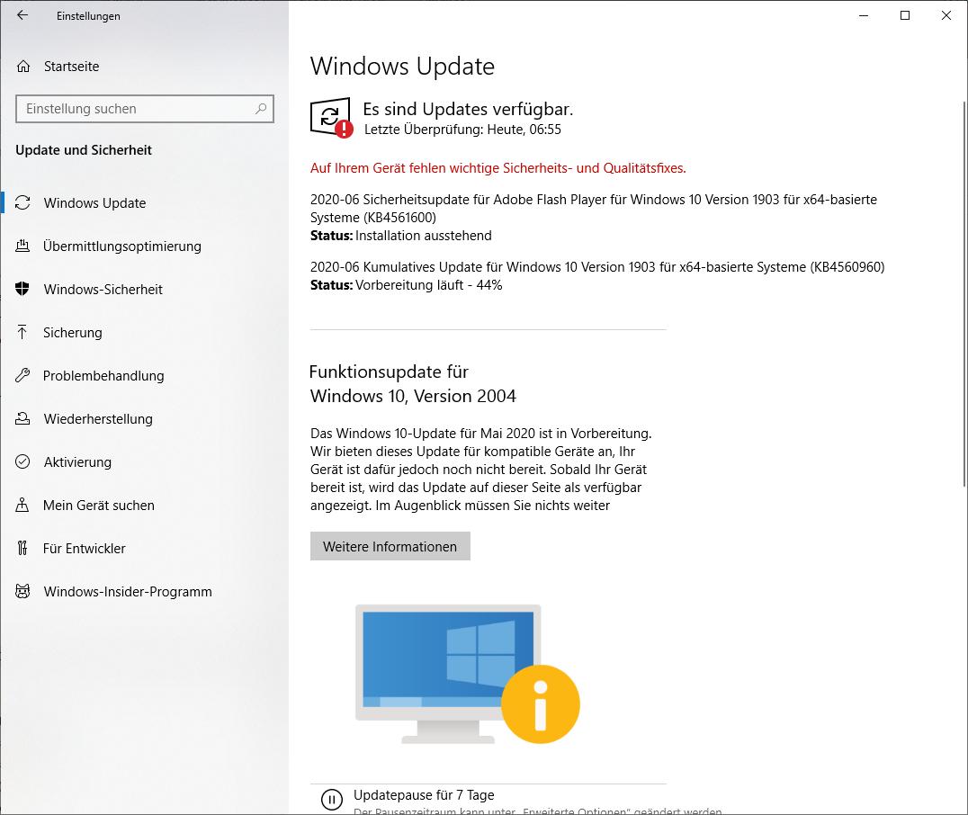 WindowsUpdate kann nicht geamcht werden