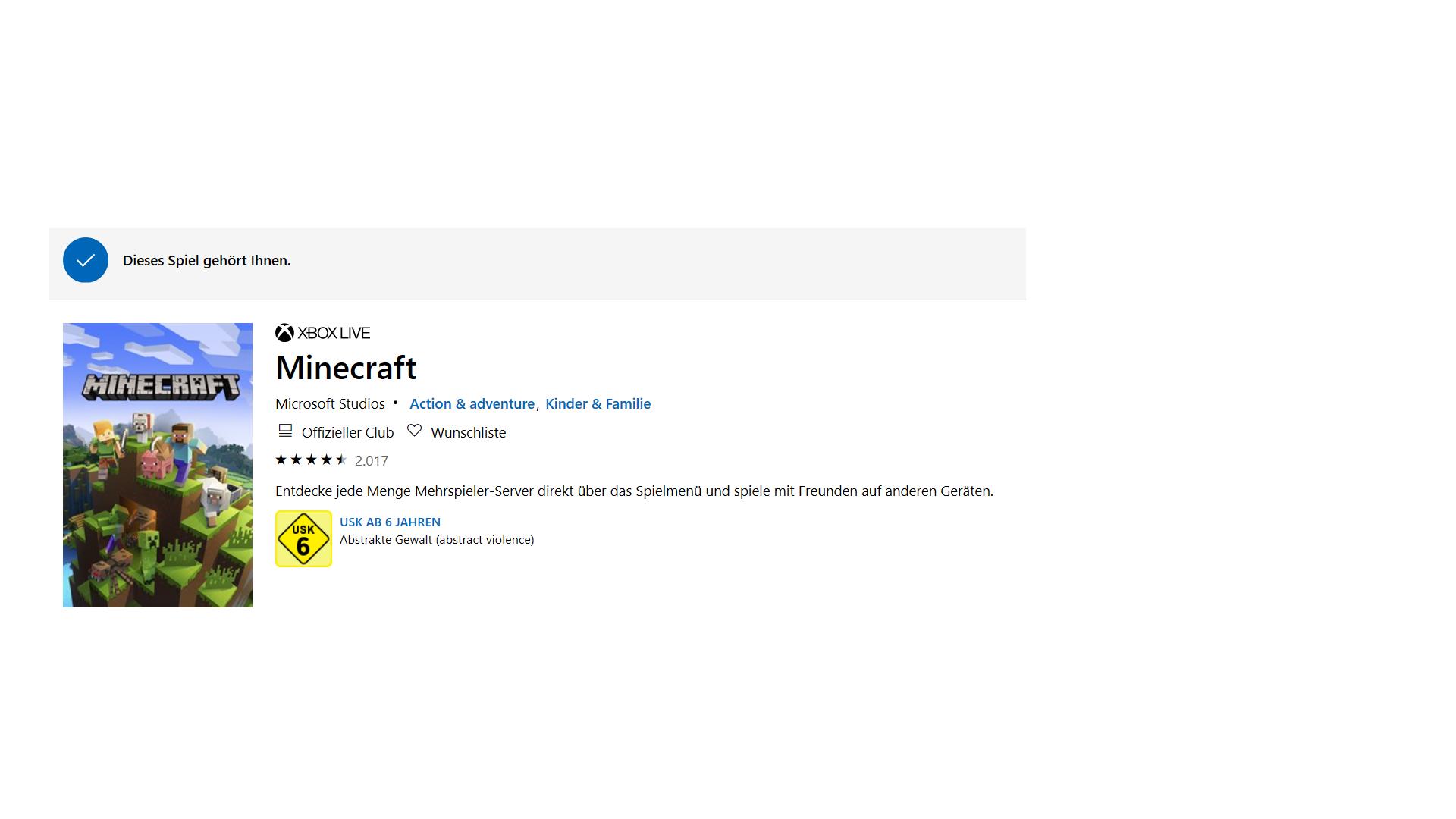 Minecraft lässt sich nicht installieren