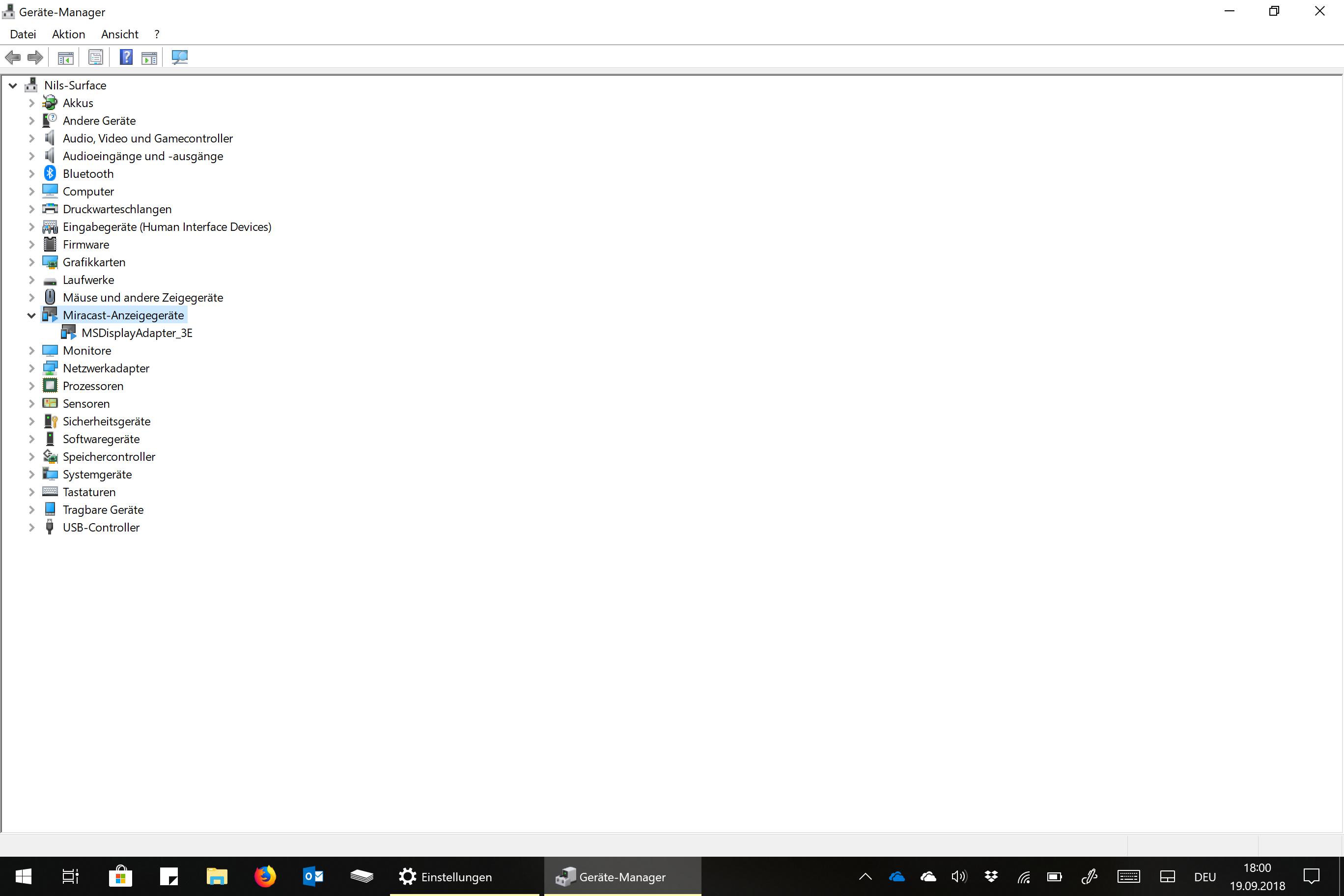 wireless display Adapter lässt sich nicht mit Surface Pro 4 verbinden