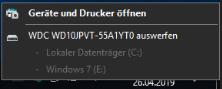Wie kann ich das Problem beheben das ich meine Festplatte nicht auswerfen kann?
