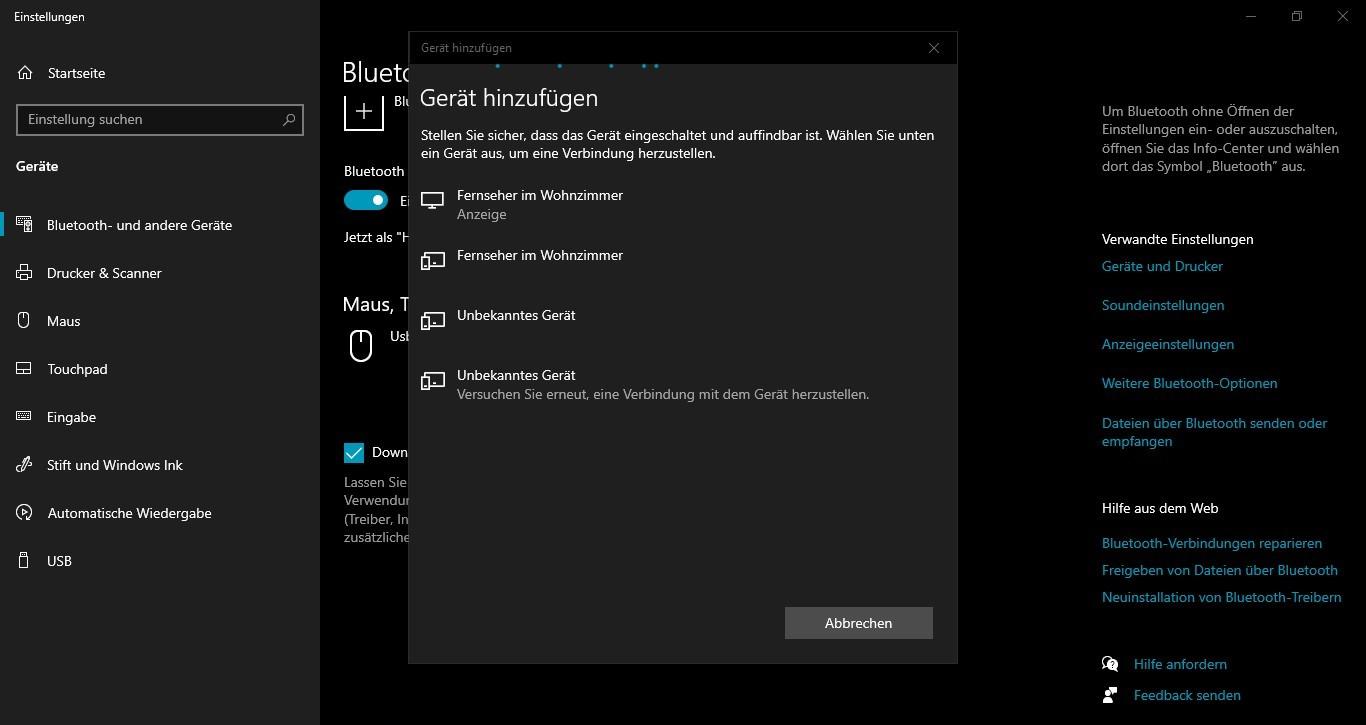 Bluetooth findet mein Gerät nicht