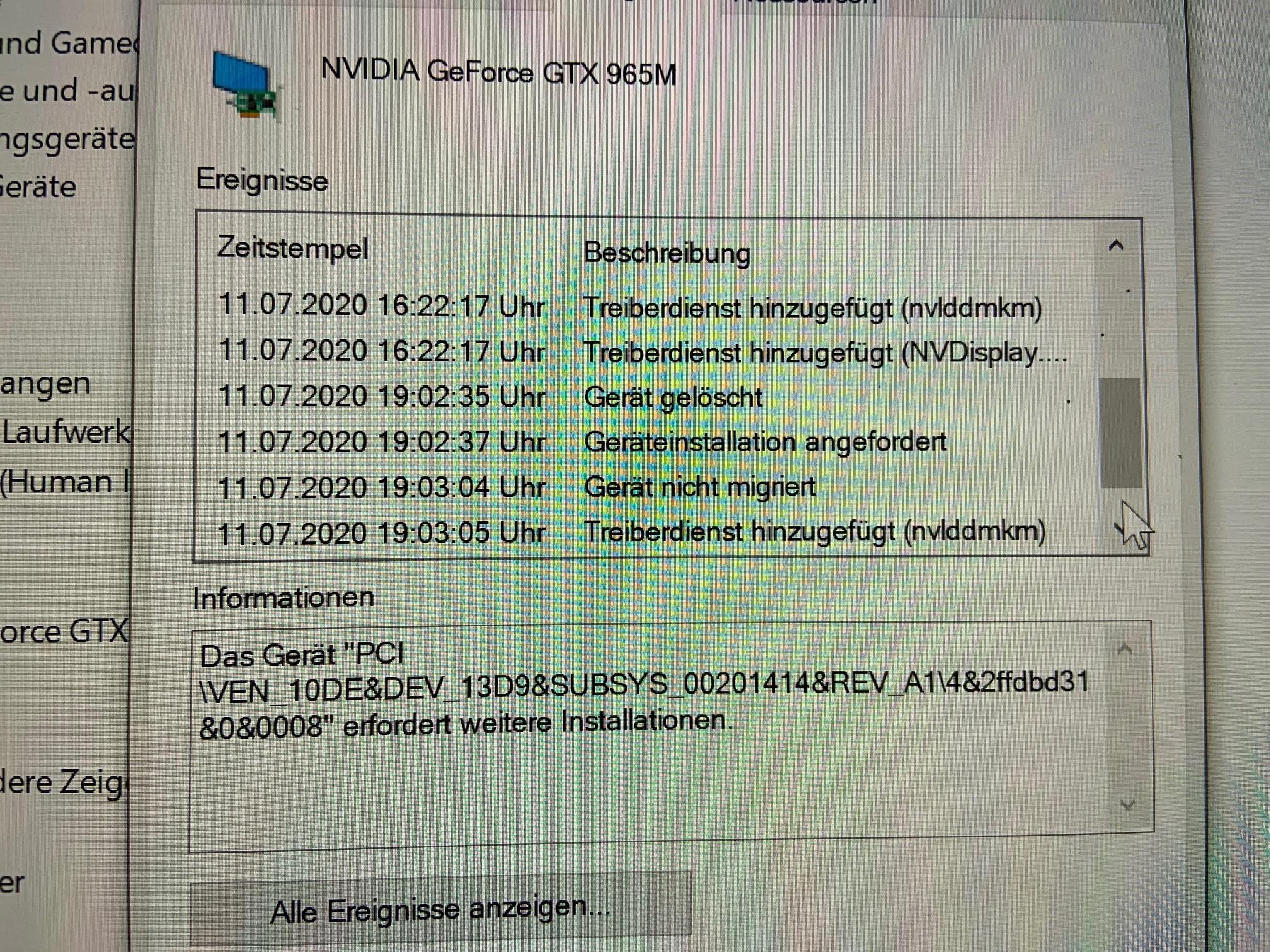 Studio 1 Problem NVIDIA GeForce
