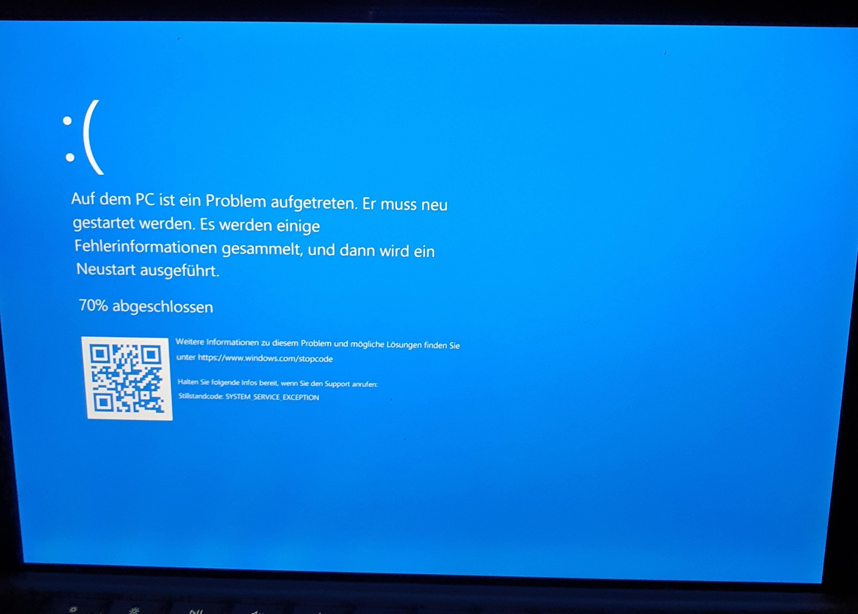 Fehlermeldung beim einschalten des Surface - Pro 6