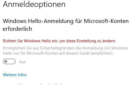 Anmelden per Fingerabdruck nach Windows Update nicht mehr möglich