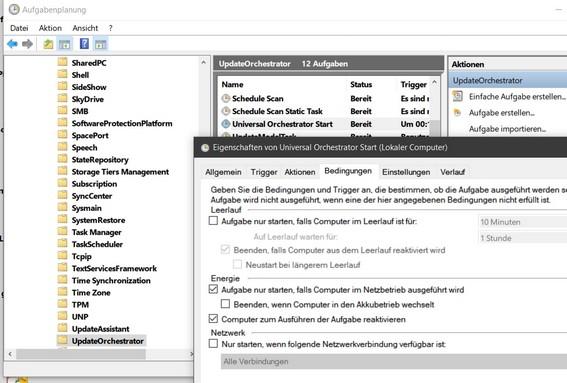 Universal Orchestrator Start - Task in der Aufgabenplanung