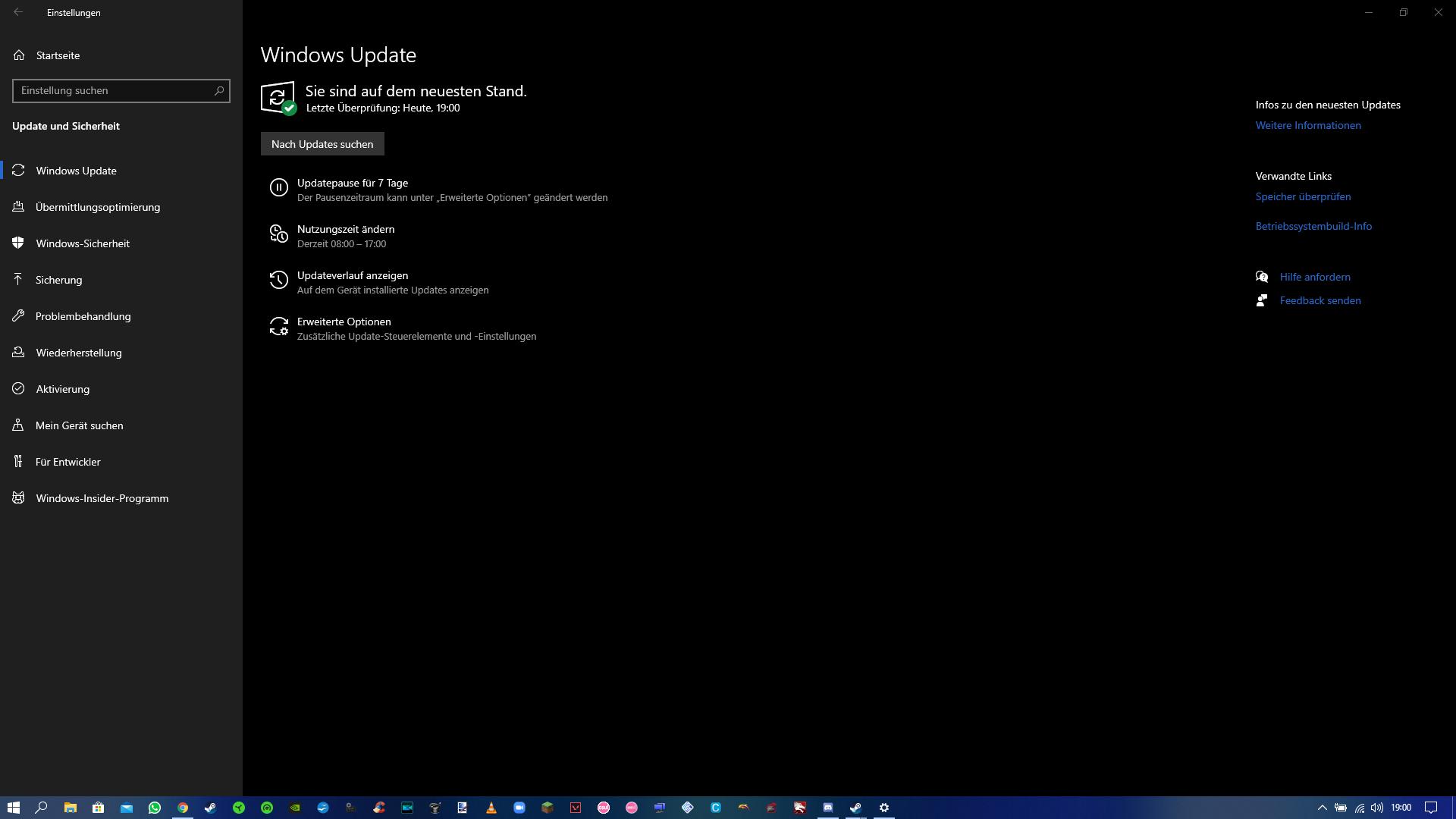 Windows Update ist immer noch auf dem neuesten Stand....