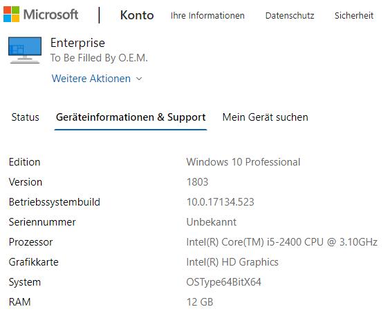 """""""Ich habe kürzlich die Gerätehardware geändert"""" Option nicht für Reaktivierung von Windows..."""