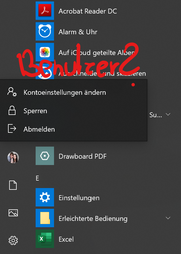 Andere Benutzer werden nicht angzeigt