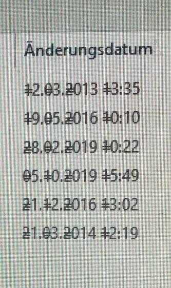 Gleichheitszeichen bei Datumsanzeige
