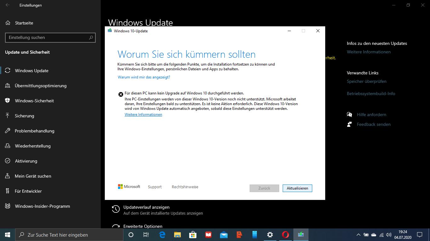 Funktionsupdate 2004 Windows 10