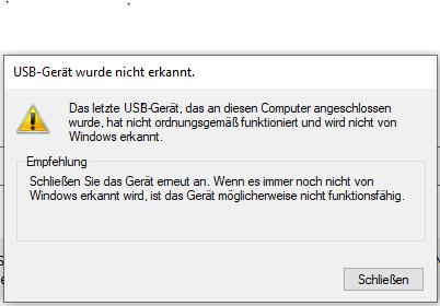 USB Webcam wird nicht erkannt