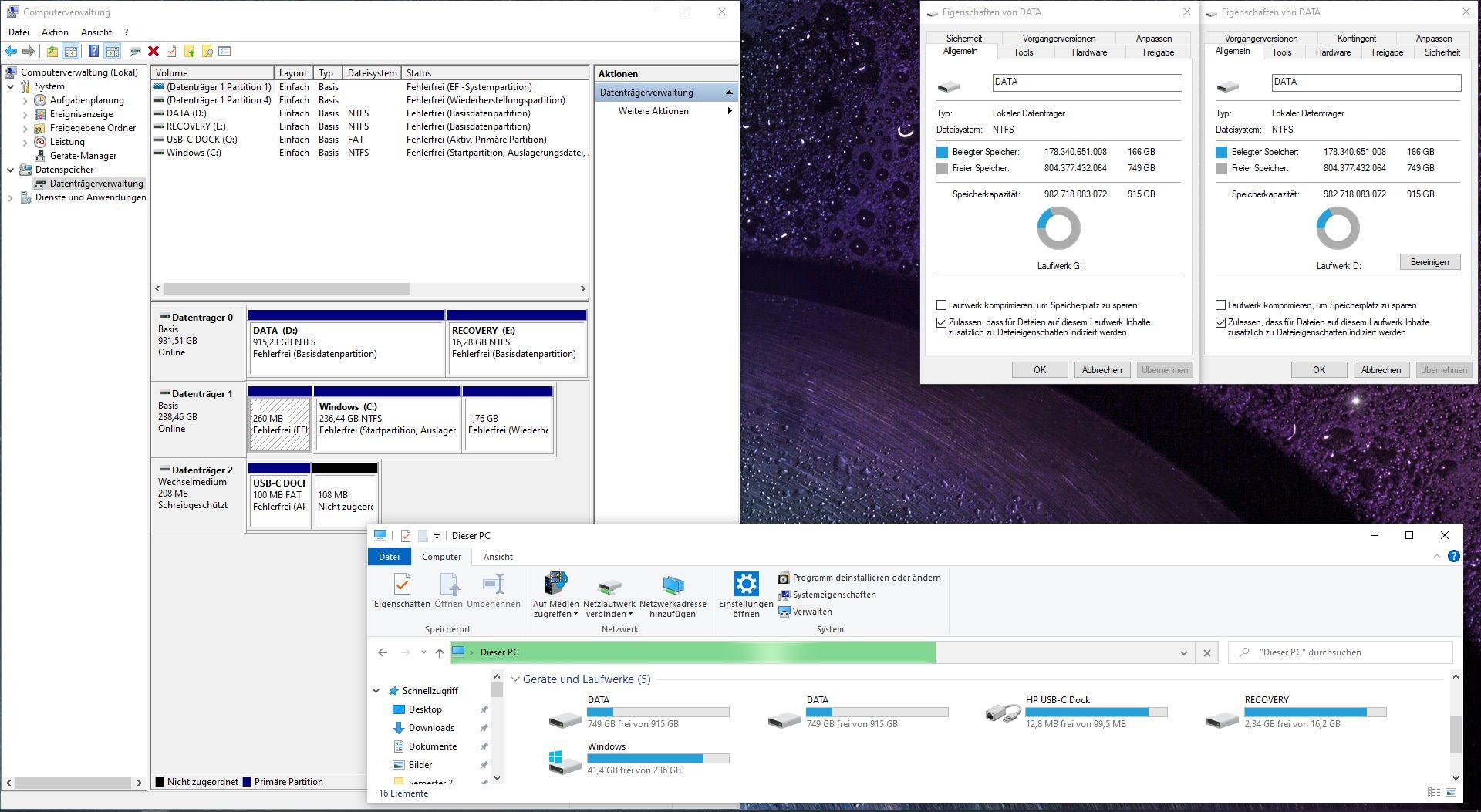 Laufwerk wird im Windows Explorer 2x mit unterschiedlichem Laufwerksbuchstaben angezeigt....