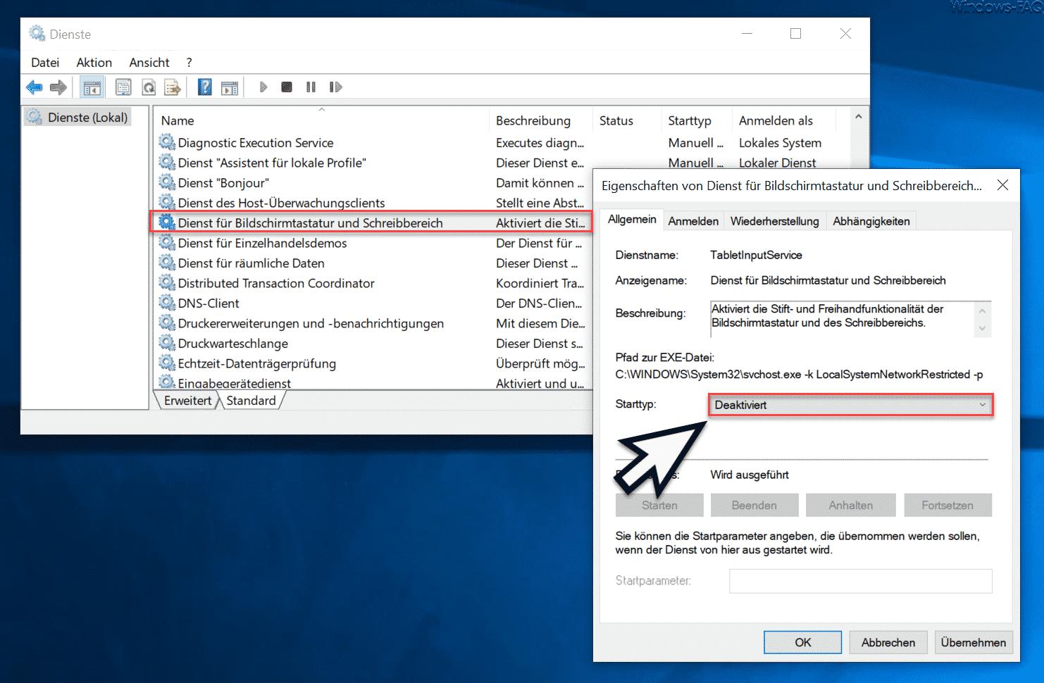 Microsoft Text Input Application taucht willkürlich im Task Manager auf
