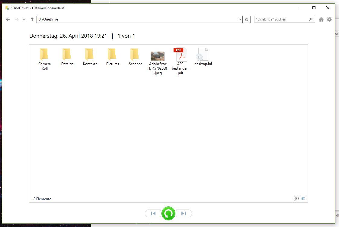 Dateiversionsverlauf sichert nicht alle Unterordner