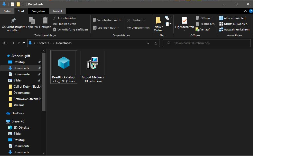 Windows Defender Zeigt nicht existierende Datei an