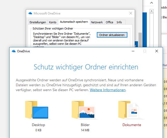 "Onedrive Ordner ""Desktop"" löschen"