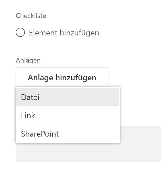 """""""Anlage hinzufügen"""" - Dateiauswahl nur im Browser möglich, nicht in der Teams-App"""