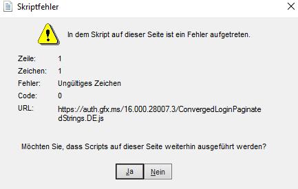 Windows 10 Skriptfehler tauchen auf