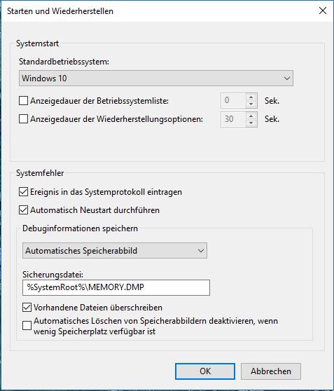 """Windows Bluescreen """"Attempted switch from DPC"""" beim Start / Ruhezustand"""