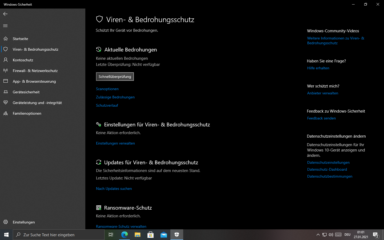 Windows Defender Manipulationsschutz: Diese Einstellung wird vom Administrator verwaltet
