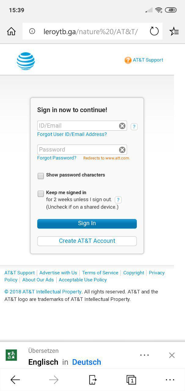 Edge unter Android ohne Schutz vor Schädlichen Websites