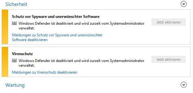 Windows Defender ist deaktiviert - wie kann ich diesen aktivieren ?