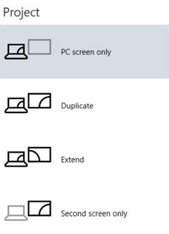 Beamer funktioniert nur, wenn der Notebook Bildschirm ausgeschaltet ist