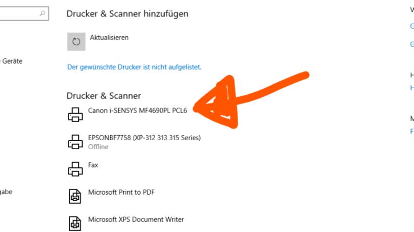 Canon i-sensys MF4690PL wird nicht erkannt