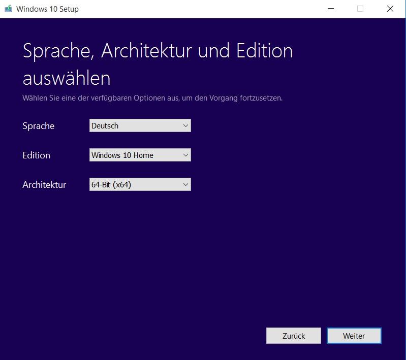 Windows 10 ISO Datei erstellen