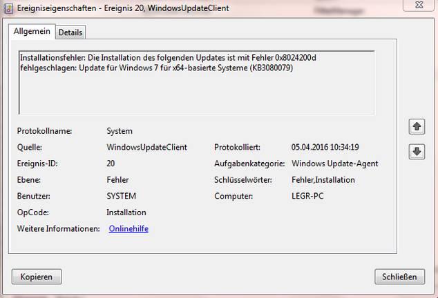 0x8024200d bei Funktionsupdate für Windows 10 Version 1803