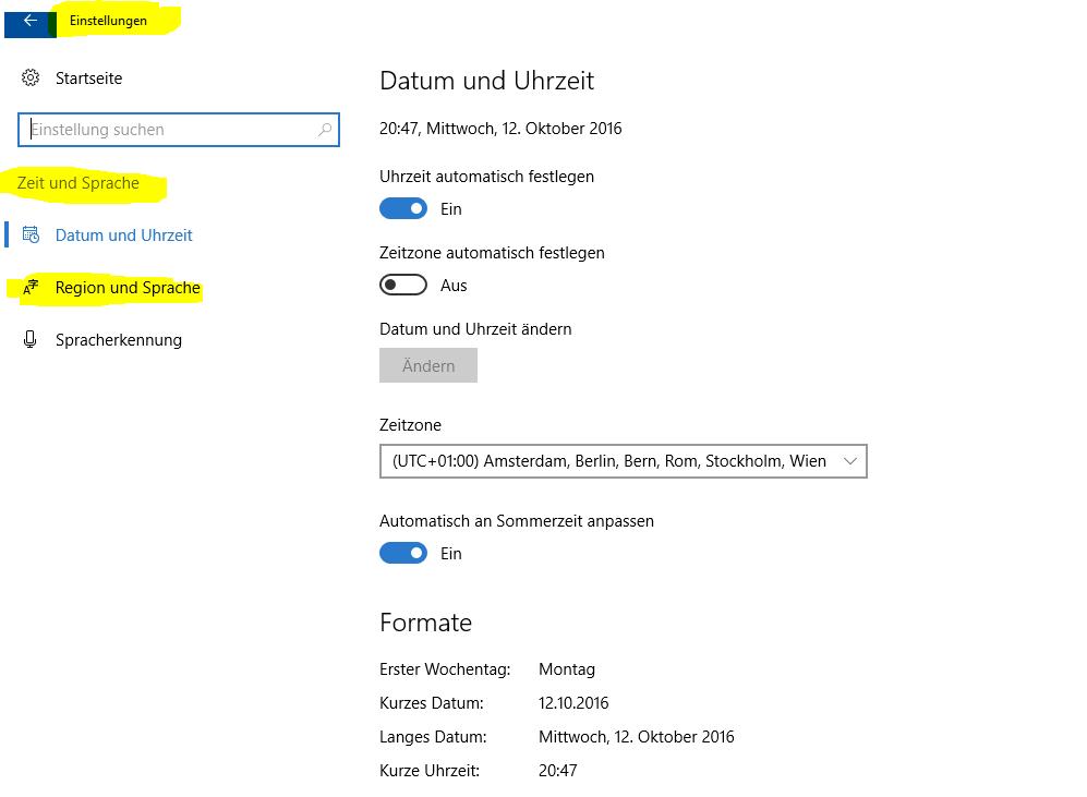 Windows 10 Wie wechsle ich die Sprache