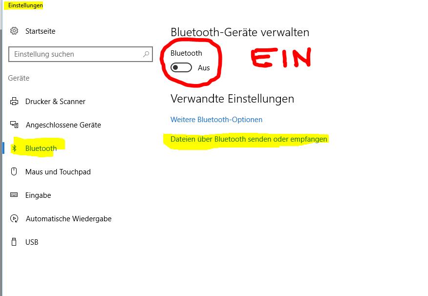 Generic Bluetooth-Dongle unter Windows 10 (64bit)