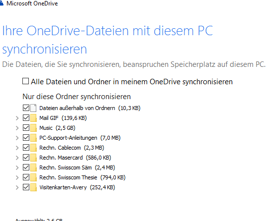 One Note auf OneDrive speichern