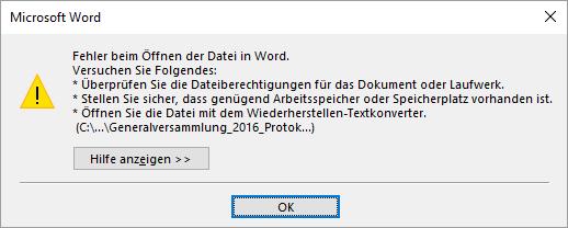 Excel 2016 erscheint nicht als Standardapp?
